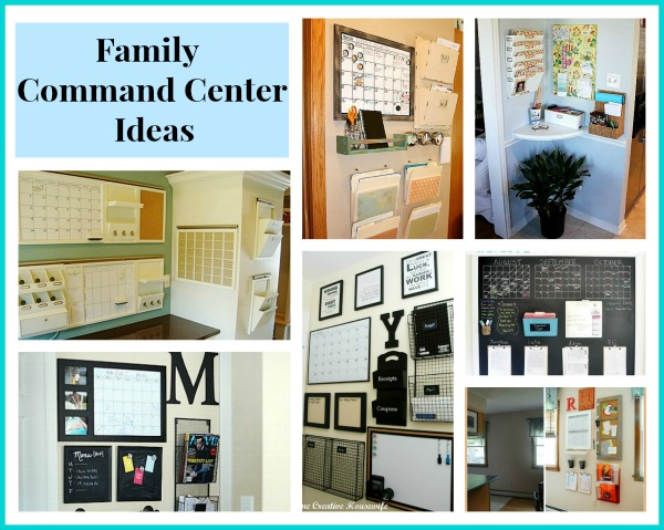 Awesome Ideas for DIY Family Command Centers- It's easy to keep your family organized if you have one of these DIY family command centers! There are ideas for spaces that are big and small! | #organizingTips #homeOrganization #organize #organization #ACultivatedNest