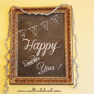 Happy New Year Chalkboard