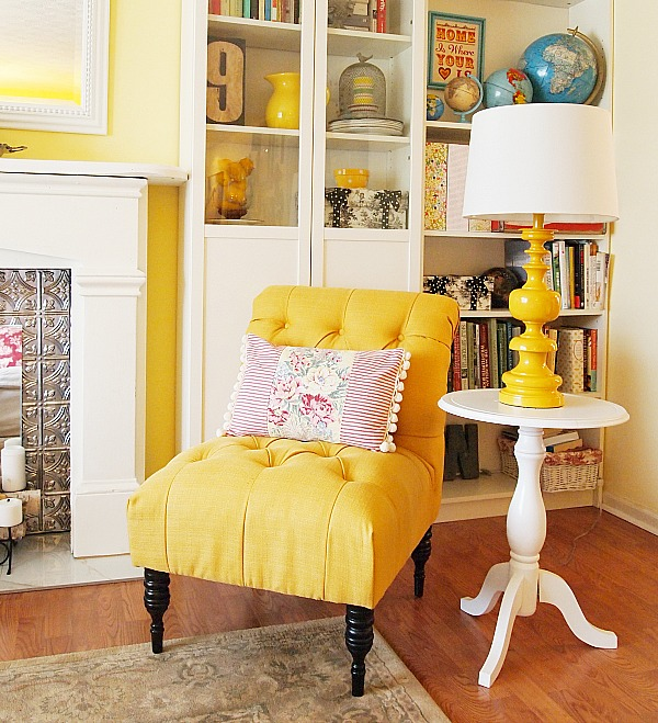 A Cultivated Nest Yellow Accent Chair