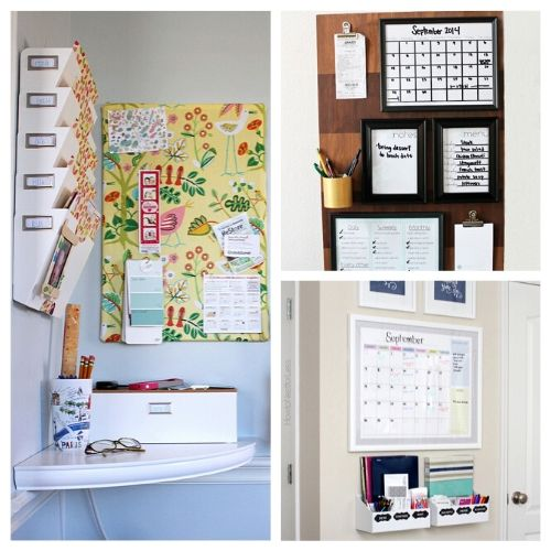 Awesome Ideas for DIY Family Command Centers- If you want a one-stop area to keep your family organized, you need to check out these DIY family command centers! There are ideas for every kind of space! | #organizingTips #homeOrganization #organize #organization #ACultivatedNest