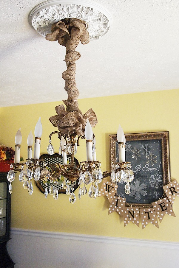 Chandelier-cord-cover-diy - DIY Project