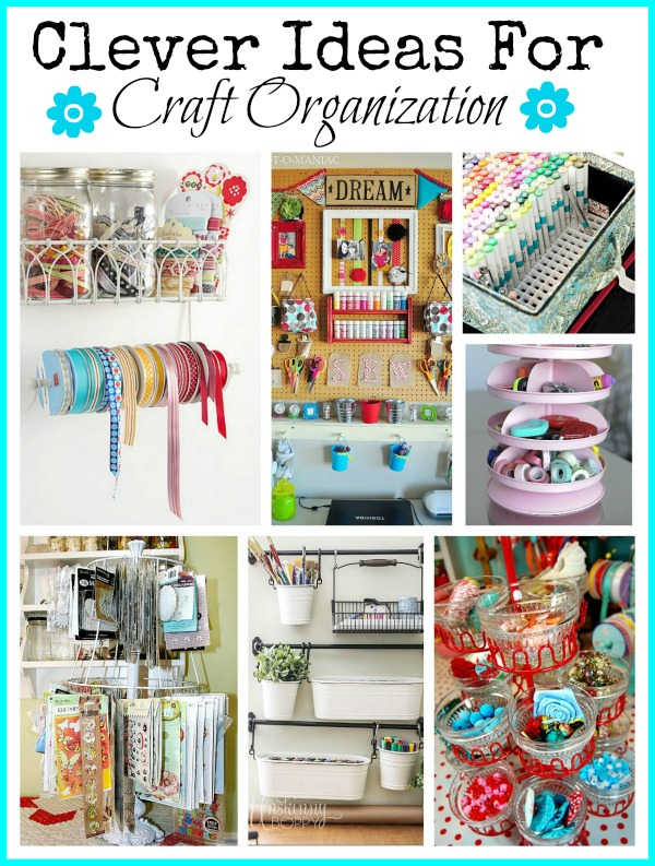 Cute Craft Organization Ideas - If your craft supplies are a disorganized mess, you need these cute craft organization ideas! They'll get your craft room organized with ease! | #organization #organizing #organize #craftRoom #ACultivatedNest