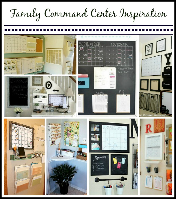 keep your family life running smoothly with a family command center - great ideas for making one