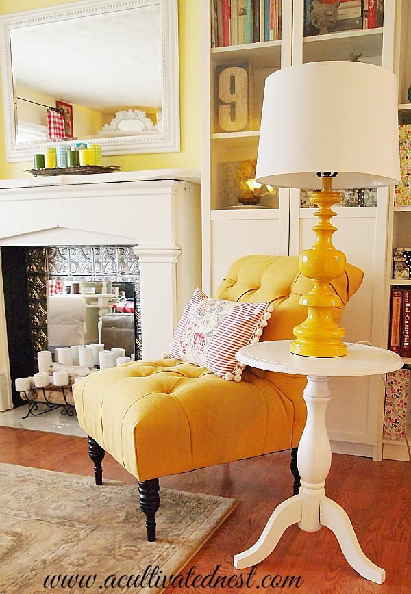 Merveilleux Cottage Style Decor   French Yellow Tufted Accent Chair