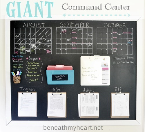 Awesome DIY Family Command Center Ideas - If you're not familiar with the idea of a Family Command Center, it's basically just a one stop family organization area. Here are a few examples that I find inspiring