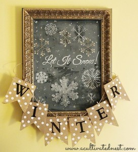 Let It Snow Chalkboard Art