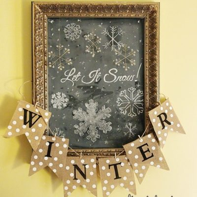 Let It Snow! - Chalkboard Art
