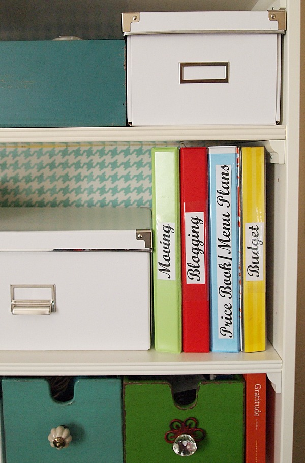 Organize with binders