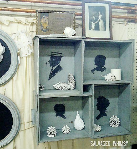 repurposed drawers shadowbox