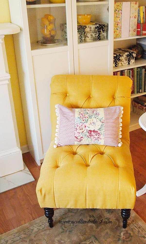 My French Yellow Tufted Chair A Cultivated Nest