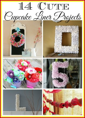 Cupcake liners are cute, inexpensive and great for crafting! Here are 14 cupcake liner projects