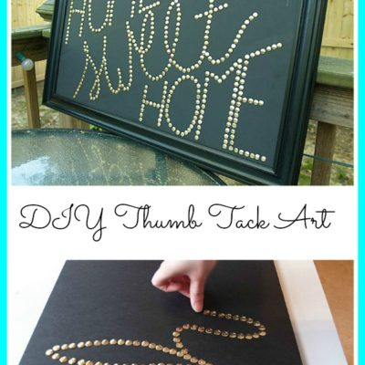 DIY Thumb Tack Wall Art |DIY Saturday Featured Project