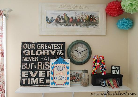 craft room shelf