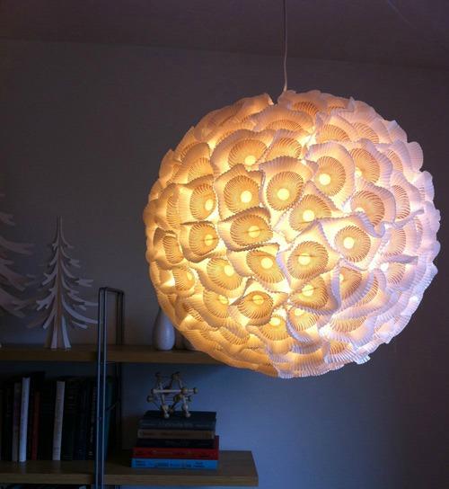 cupcake liner chandelier