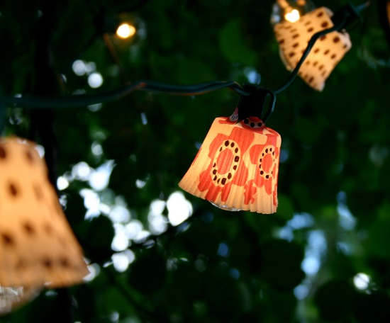 cupcake linker string light lanterns