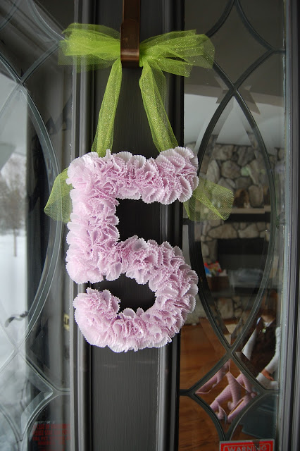 cupcake liner number wreath
