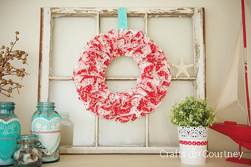 Cupcake Liner Crafts - cupcake wrapper wreath