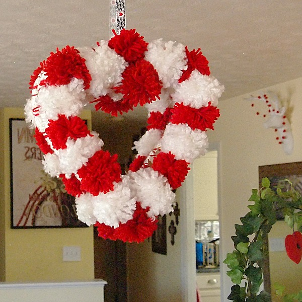 Pom Pom Valentine's Day Wreath