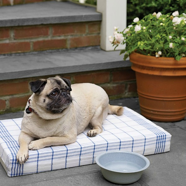 pet bed made from dish towels via Martha Stewart