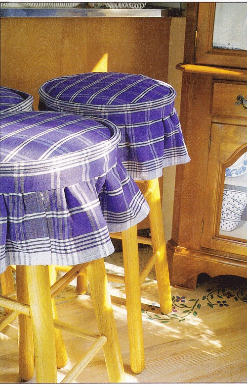stool covers made from dish towels| In My Own Style