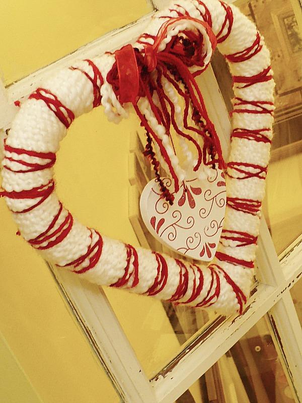 Yarn Valentine's Day Wreath