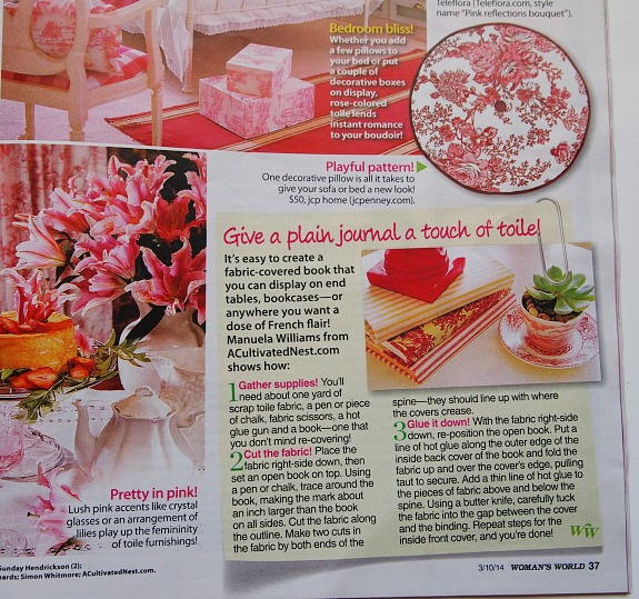 A Cultivated Nest tutorial in Woman's Day Magazine