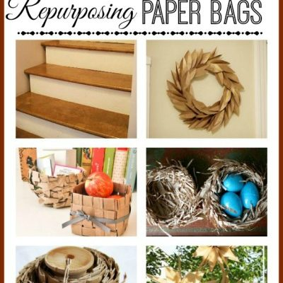 Inspired Ideas for Repurposing Paper Bags