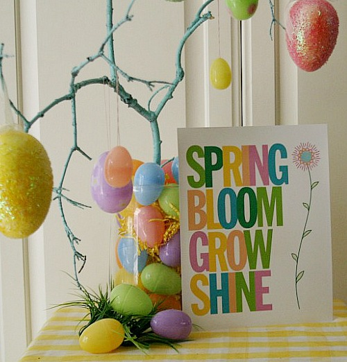 Spring Sign Printable by Hoosier Homemade