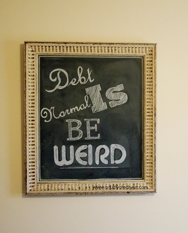 Dave Ramsey Quote on a chalkboard