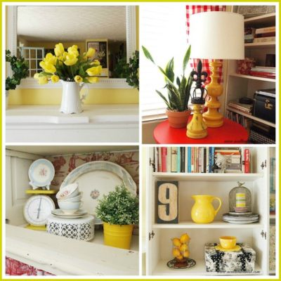 decorating with yellow for spring