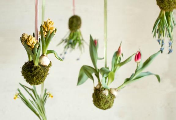 """spring string garden """"Kokedama"""""""