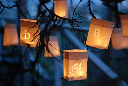crafting with paper bags - paper bag lanterns