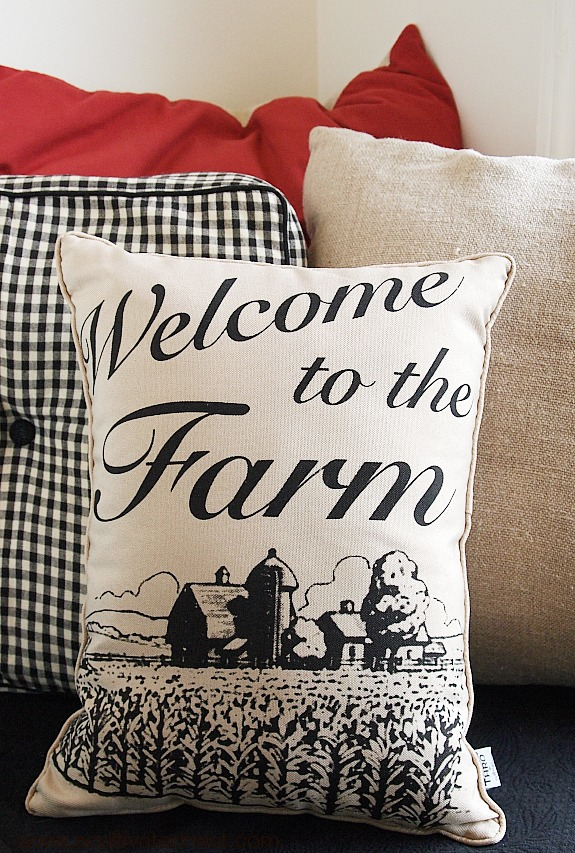 welcome to the farm pillow