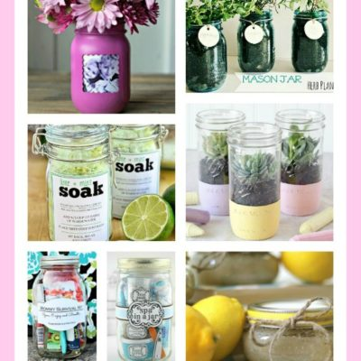 10 Pretty Mother's Day Gifts Using Jars Roundup