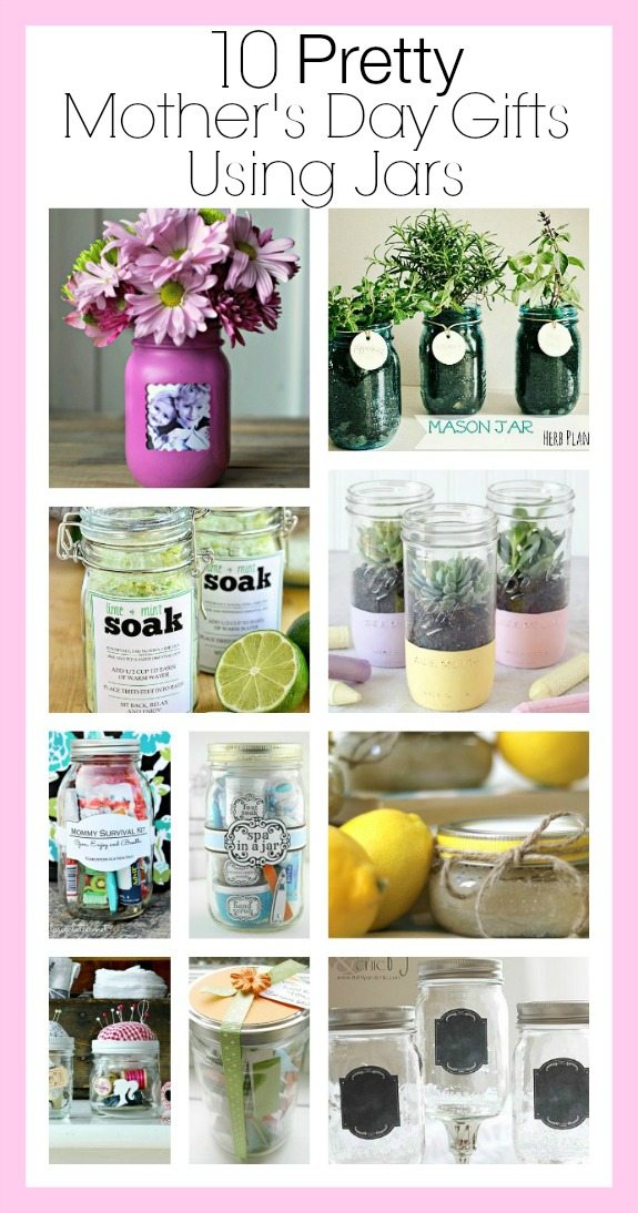 10 Pretty Mother's Day Gifts Using Jars- Forget the lines this year, these 10 Pretty Mother's Day Gifts Using Jars will warm mom's heart. They're easy to make, and are gifts she's sure to love! | Mother's Day gift ideas, #mothersDay #diyGifts #homemadeGifts #masonJarGifts #ACultivatedNest