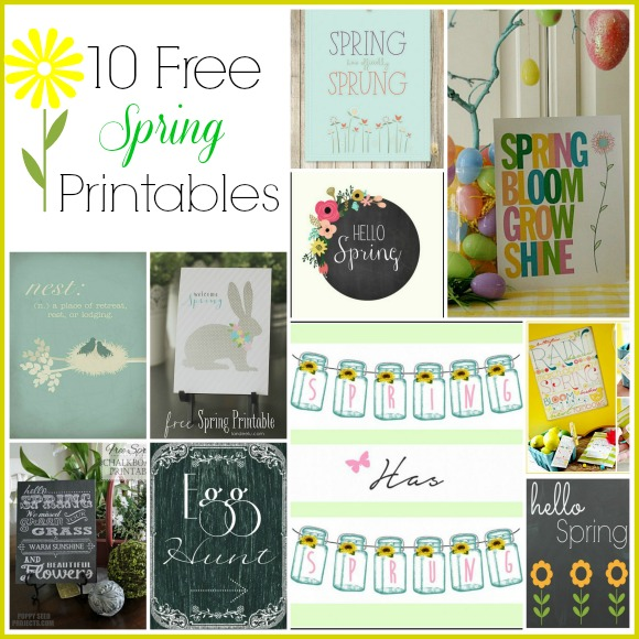 A collection of 10 cute spring printables that are free!