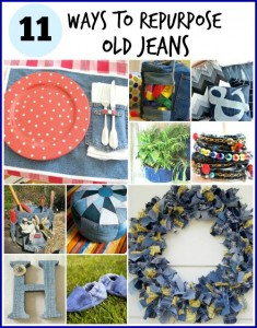 11 {More} Ways to Repurpose Old Jeans