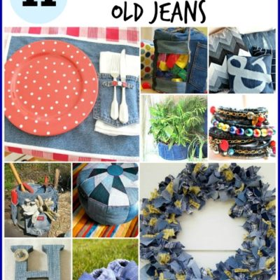 11 Ways to repurpose old jeans