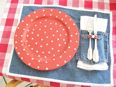 Denim placemats from Homesteader's Heart