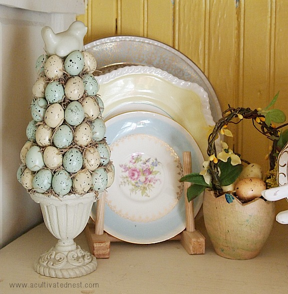 Easter decorations - egg topiary | A Cultivated Nest