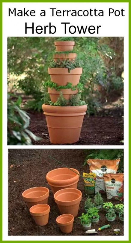 How to make a Terracotta Pot Herb Tower