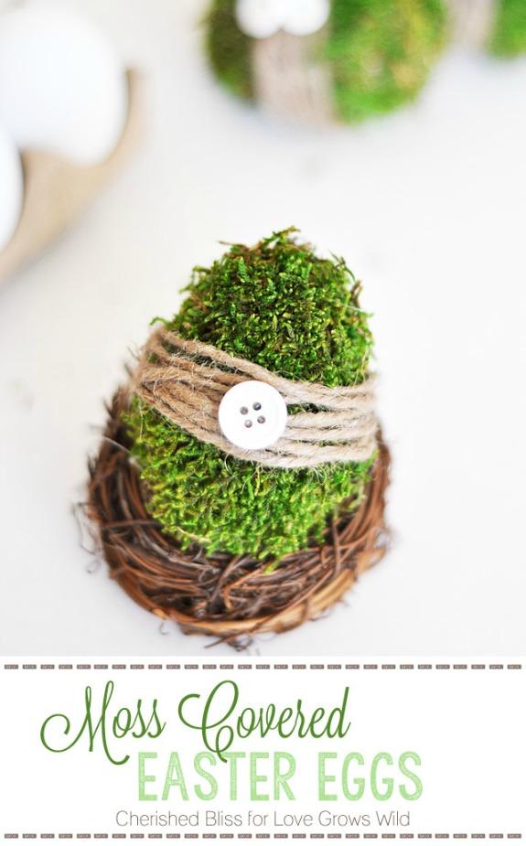 Moss covered Easter Egg