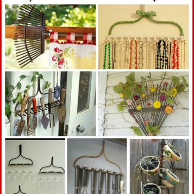8 Fun Repurposed Garden Rake Ideas