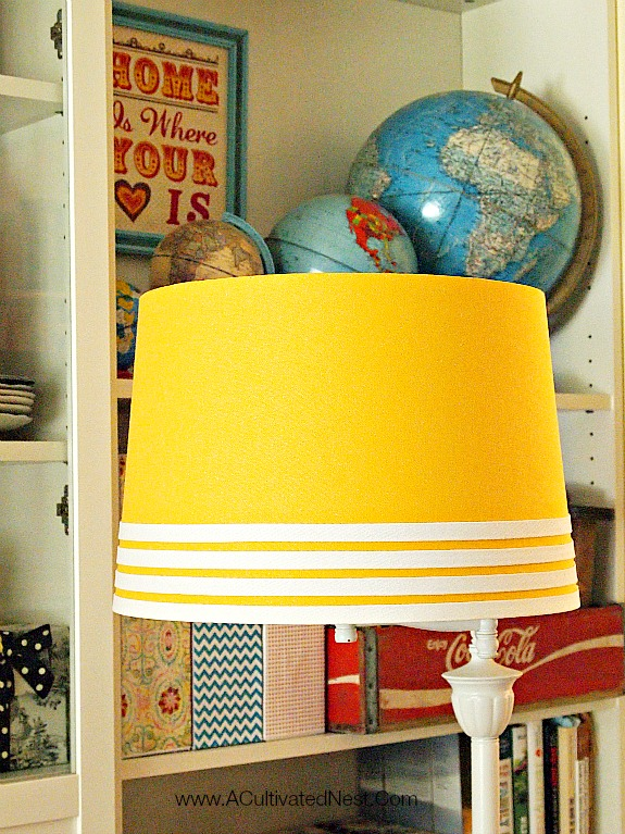 Yellow Threshold lampshade from Target