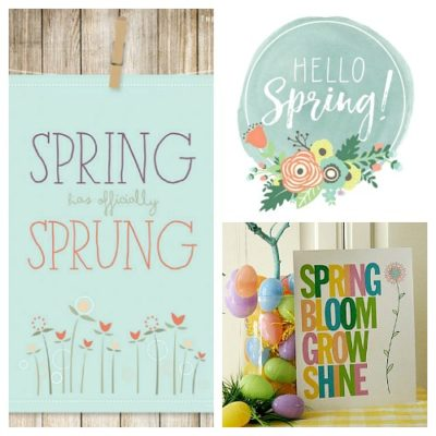 10 Cute Spring Printables That Are Free!