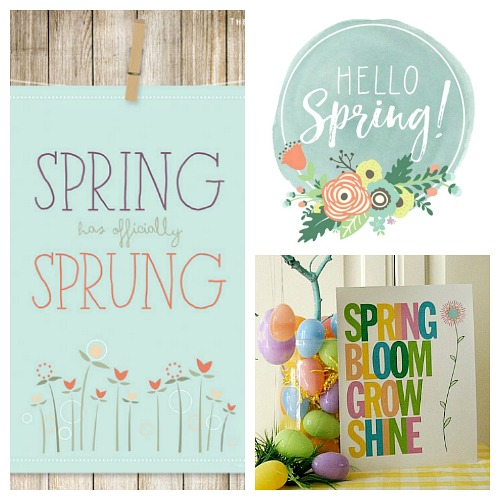 image regarding Spring Printable named Totally free Spring Printables- Wall Artwork + Easter Address Topper- A