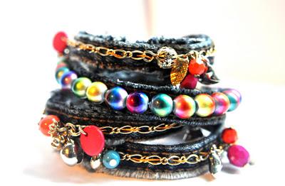 denim bracelets by Av Susanne