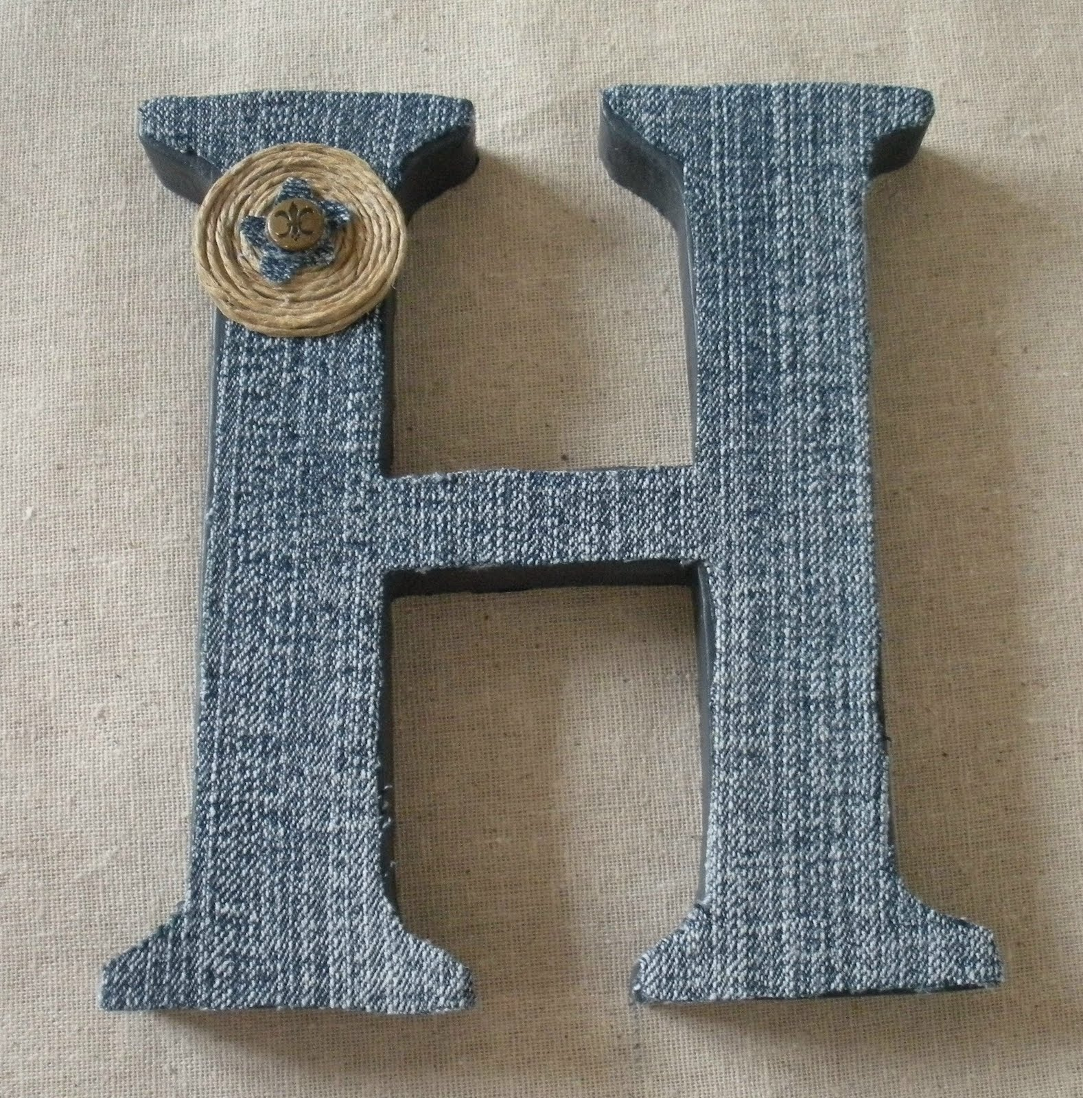 denim covered craft letter
