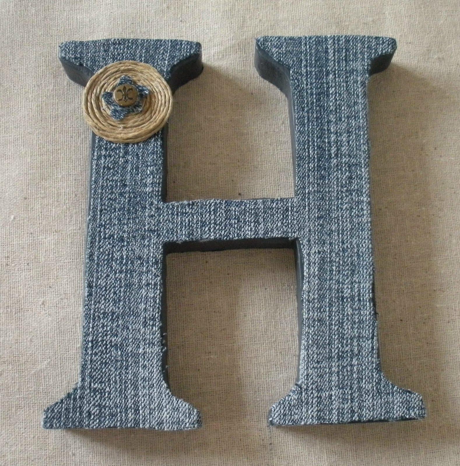 denim covered craft letter