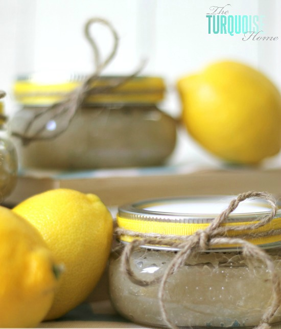 10 Pretty Mother's Day Gifts in a Jar - DIY lemon scrub
